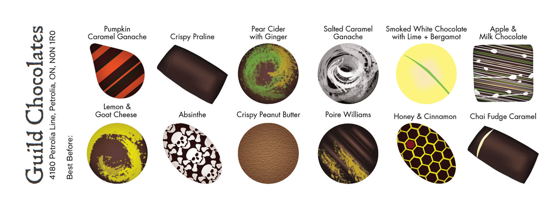 Guild Chocolate Chart. Collection of 12.